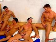 Four Muscular Men Fucking Clip # 5